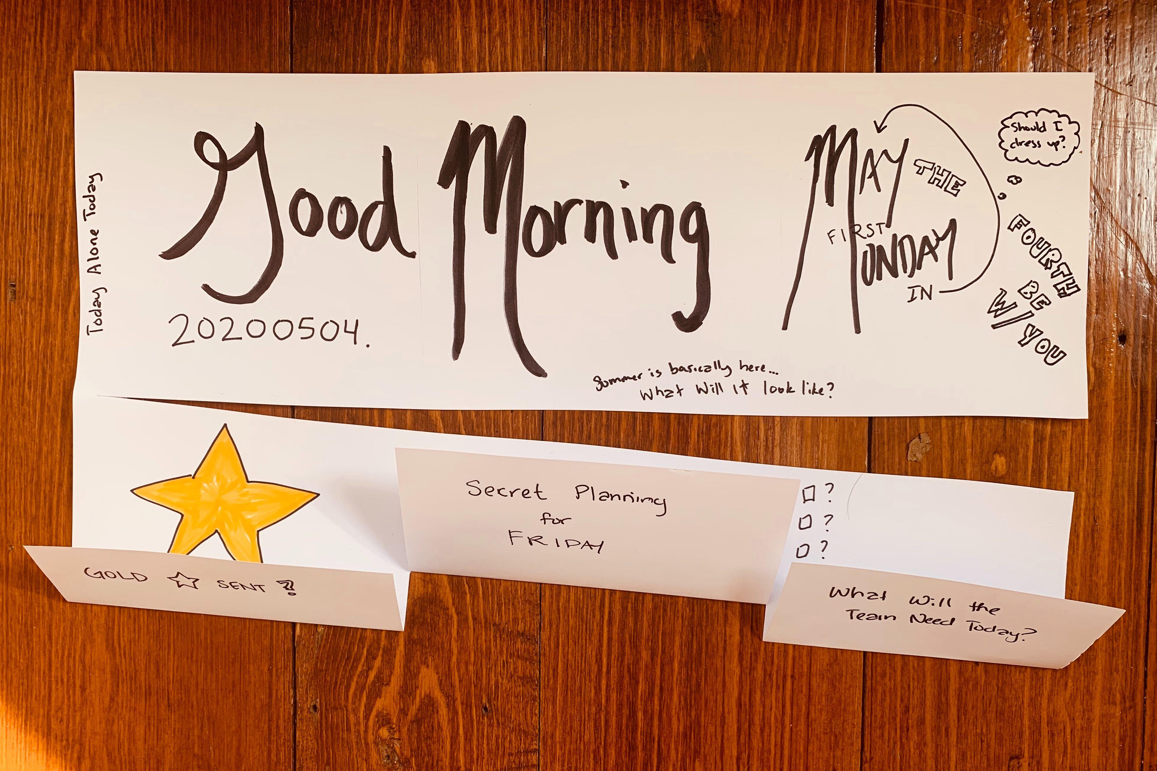 Jordan's morning tasks