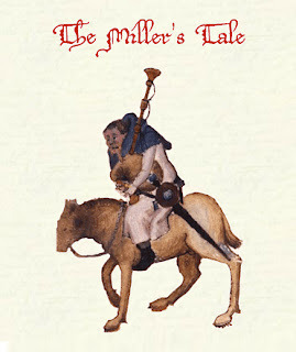 image of Miller on donkey from Chaucer's Canterbury Tales