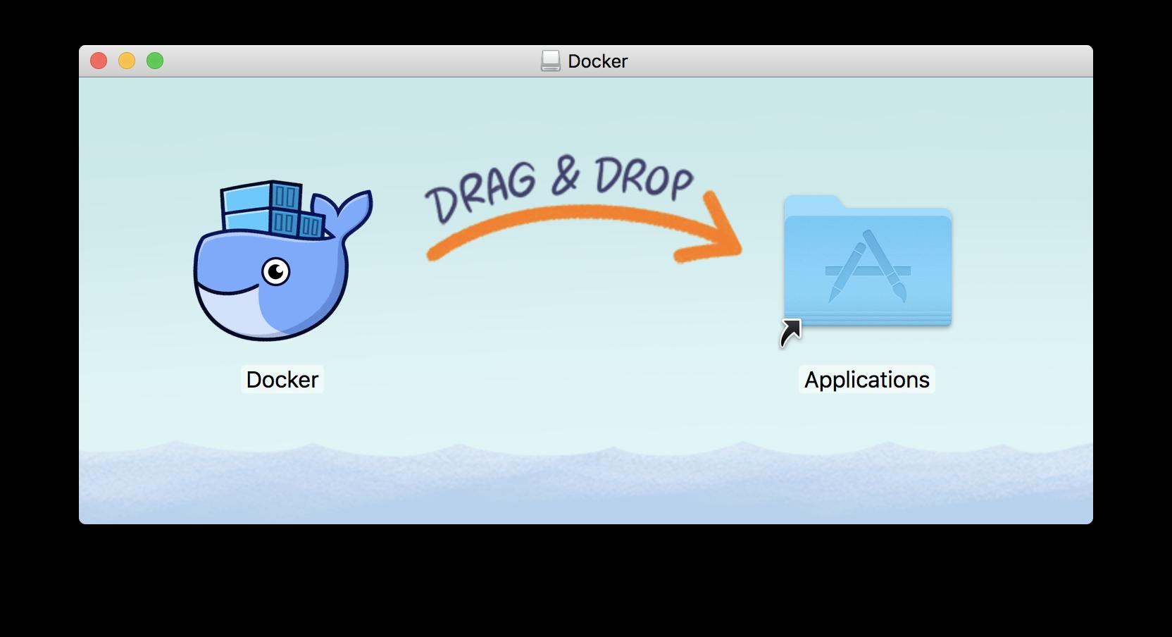 MacOS에서 Docker 설치 화면