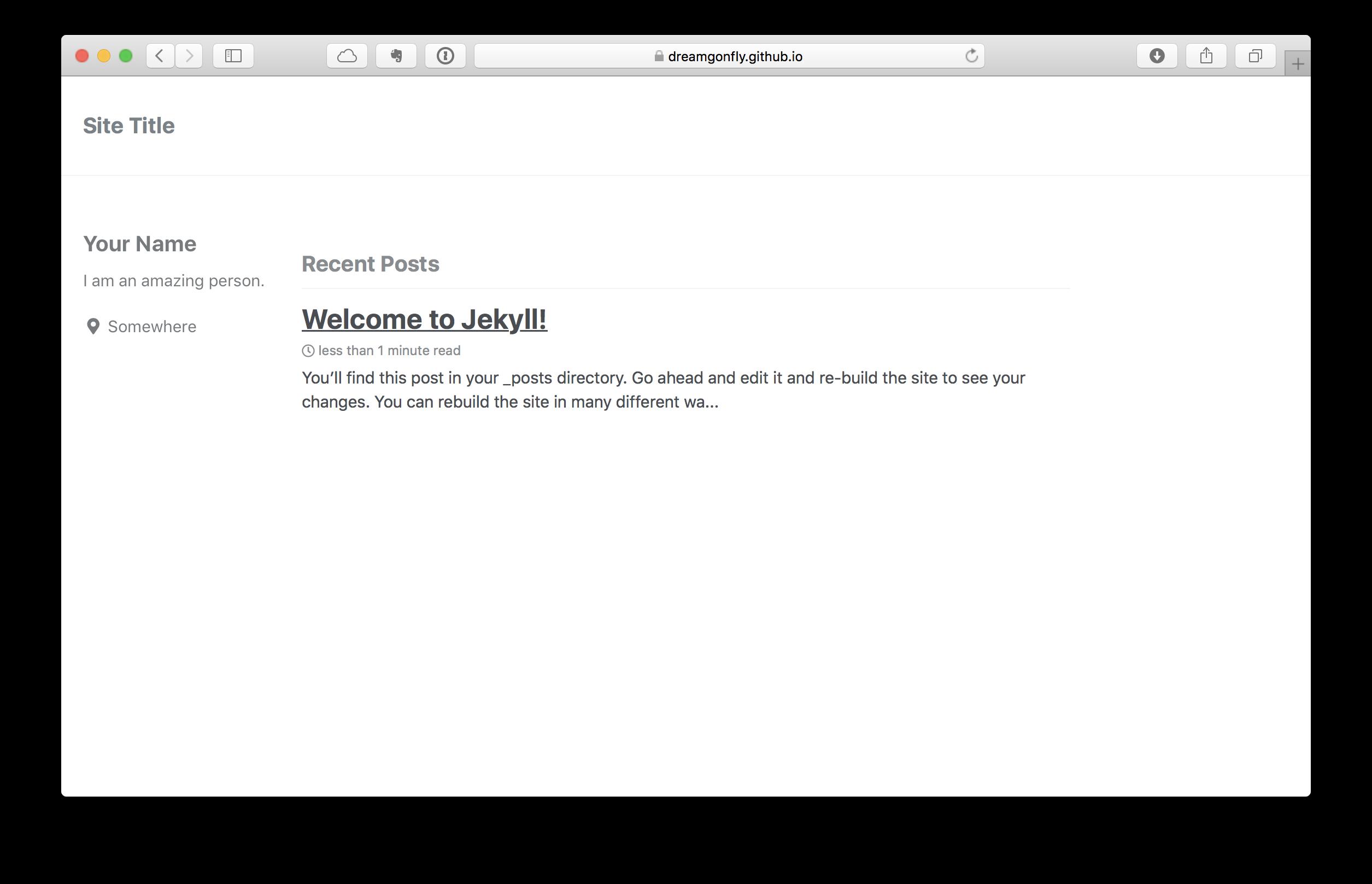 만들어진 minimal-mistakes 테마의 GitHub Pages 블로그
