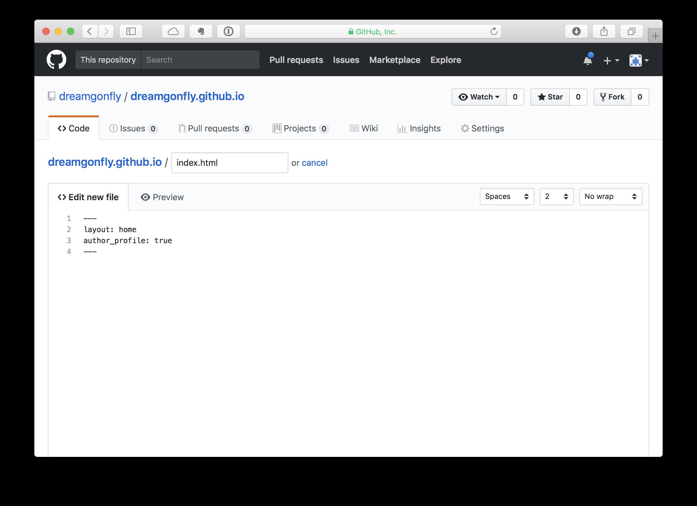index.html 파일 생성하기