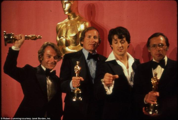 Stallone na cerimônia de entrega do Oscar